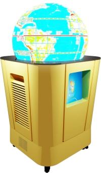 (教学设备)多媒体球幕投影演示仪,互动超半球